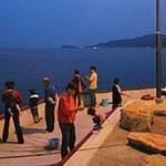 淡路島観光ホテルぷらべーと釣り場の風景